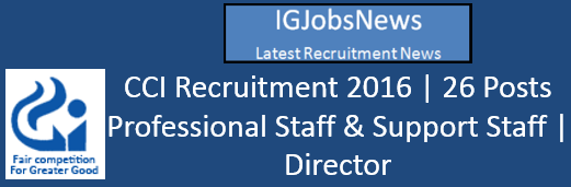CCI Latest Recruitment Notification www.cci.gov.in