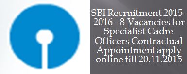 State Bank of India Recruitment SBI_November_2015