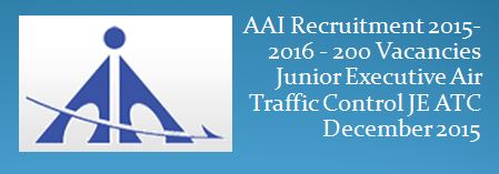 AAI Recruitment December 2015