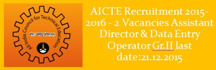 AICTE Special Recruitment Drive PWDs 2015