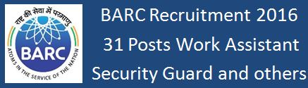 BARC Recruitment 2015 31 Posts