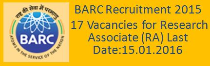 BARC Recruitment December 2015