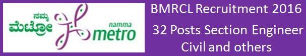 BMRCL Recruitment December 2015 06012016