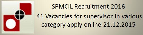 BPN Dewas SPMCIL Recruitment 2015 2016