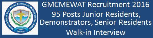 GMCMEWAT Recruitment 2015 2016