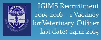 IGIMS Recruitment December 2015