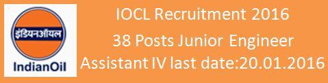 IOCL Recruitment Bihar 2016