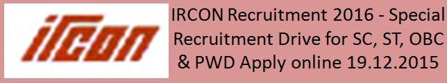IRCON_Spl_Rectt_Drive_2015
