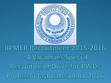JIPMER-faculty-recruitment_Special Recruitment Drive for PWDs 2015-2016