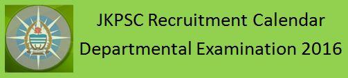 JKPSC Recruitment Notification Calendar 2016