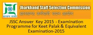 JSSC Answer Key December 2015