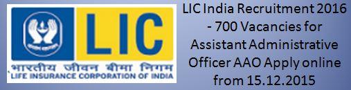 LIC India Recruitment 2015 Advertisement29thbatch