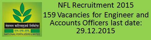 NFL Recruitment 2015 Advertisement dated 07.12.2015