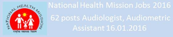 NRHM Recruitment 2015-16 62 Vacancies