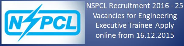 NSPCL Recruitment 2015 2016