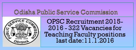 OPSC Recruitment December 2015