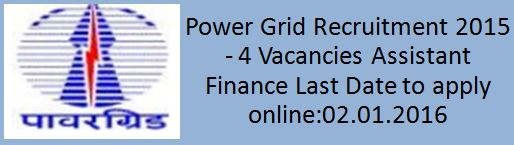 Power Grid Corporation Recruitment 2015 2016