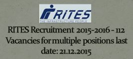 RITES Recruitment December 2015