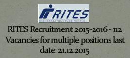 RITES Recruitment December 2015