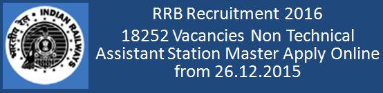 RRB Recruitment Notice No 13 15