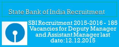 State Bank of India Final Advertisement SCO 2015-16
