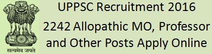 UPPSC Recruitment 2015-2016 2242 posts