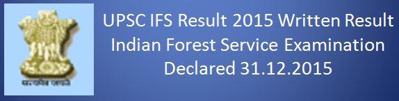 UPSC IFS Written Examination Result 2015