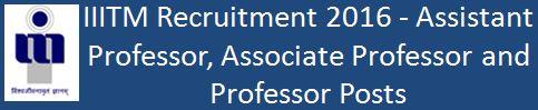 ABV IIITM_Faculty Recruitment February 2016