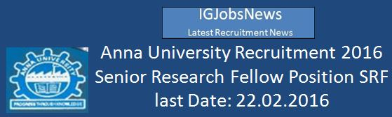 Anna University Recruitment 2016 srf_food