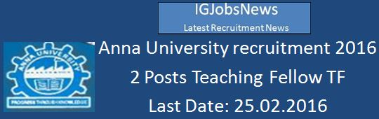 Anna University Recruitment 2016 tf_mechanical