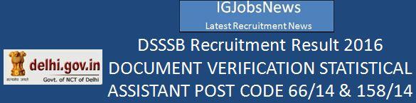 DSSSB Notification_66 158-14