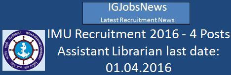 IMU Recruitment February 2016