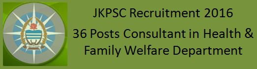 JKPSC Recruitment Notification February 2016_CONSULTANT_H&ME