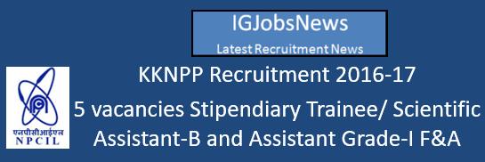 KKNPP Recruitment 2016-17