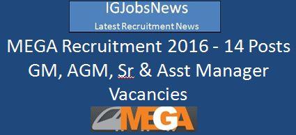 MEGA_Recruitment notification for Technical posts Feb 2016