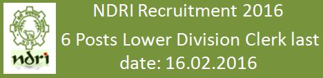 NDRI Recruitment 2016 emp_admin_eng_16Jan2016