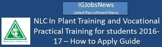 NLC In-Plant Training Guidlines 2016-2017