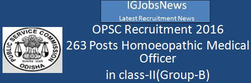 OPSC Recruitment 2016 263 Posts