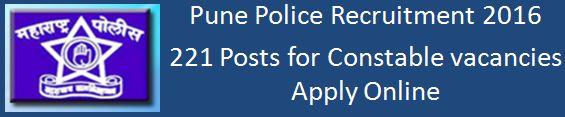 Pune Police Bharti 2015-16 Advertisement