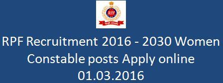 RPF Recruitment Notification No.01_2016