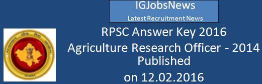 RPSC ARO 2016 2014 Examination Answer Key