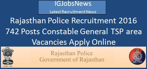 Rajasthan Police Recruitment 2016 February