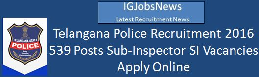 TSLPRB Recruitment February 2016_539 Posts Recruitment Advertisement