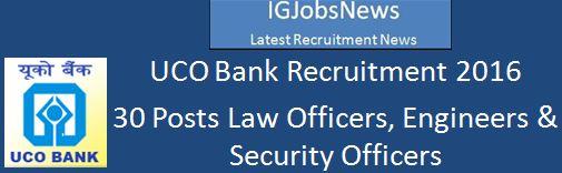 UCO Bank_Recruitment_February 2016_30 Posts