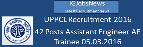 UPPCL Recruitment 2016_42 Posts_VSA_240216