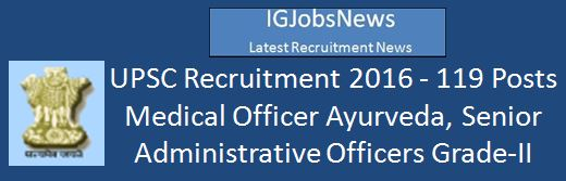UPSC Recruitment 2016_Advt_119 Posts February 2016