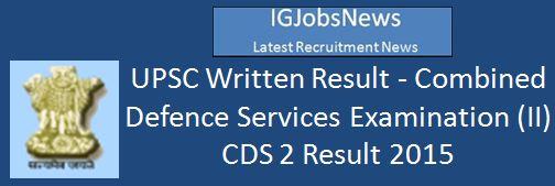UPSC Result_2016_Wrtn_Rslt_CDS_II_2015_Engl