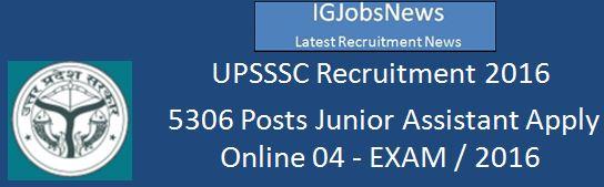 UPSSSC JA Recruitment 2016