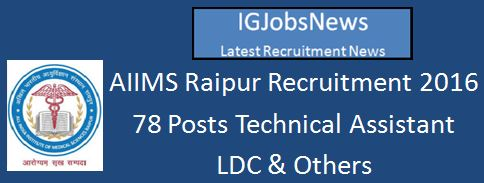 AIIMS Raipur_Advt for Group B and C Posts