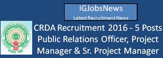APCRDA Recruitment March 2016